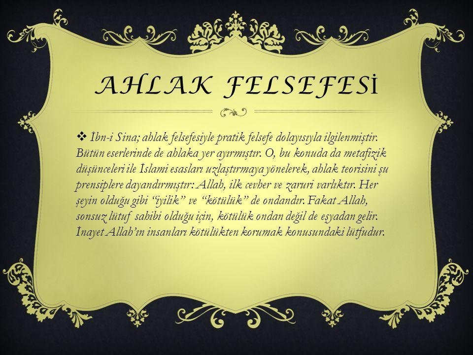 AHLAK FELSEFESİ