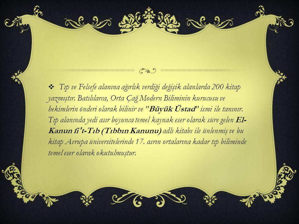 Tıp ve Felsefe alanına ağırlık verdiği değişik alanlarda 200 kitap yazmıştır.