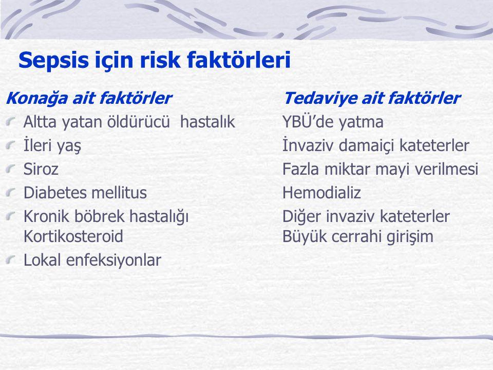 Sepsis için risk faktörleri