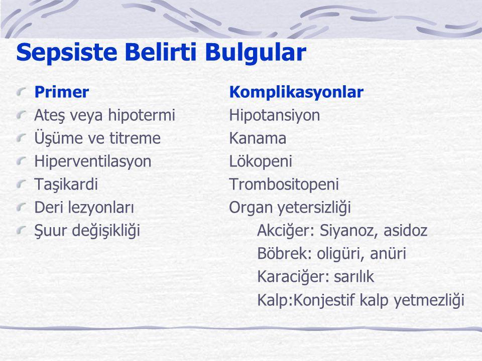 Sepsiste Belirti Bulgular