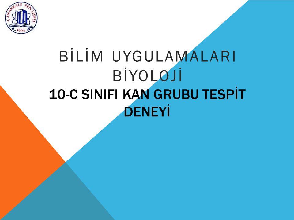 10-C SINIFI KAN GRUBU TESPİT DENEYİ