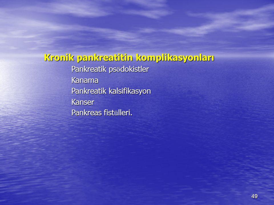 Kronik pankreatitin komplikasyonları