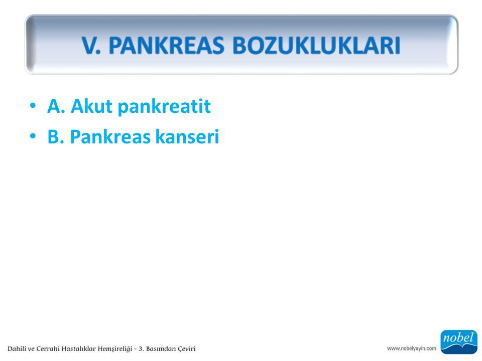V. PANKREAS BOZUKLUKLARI