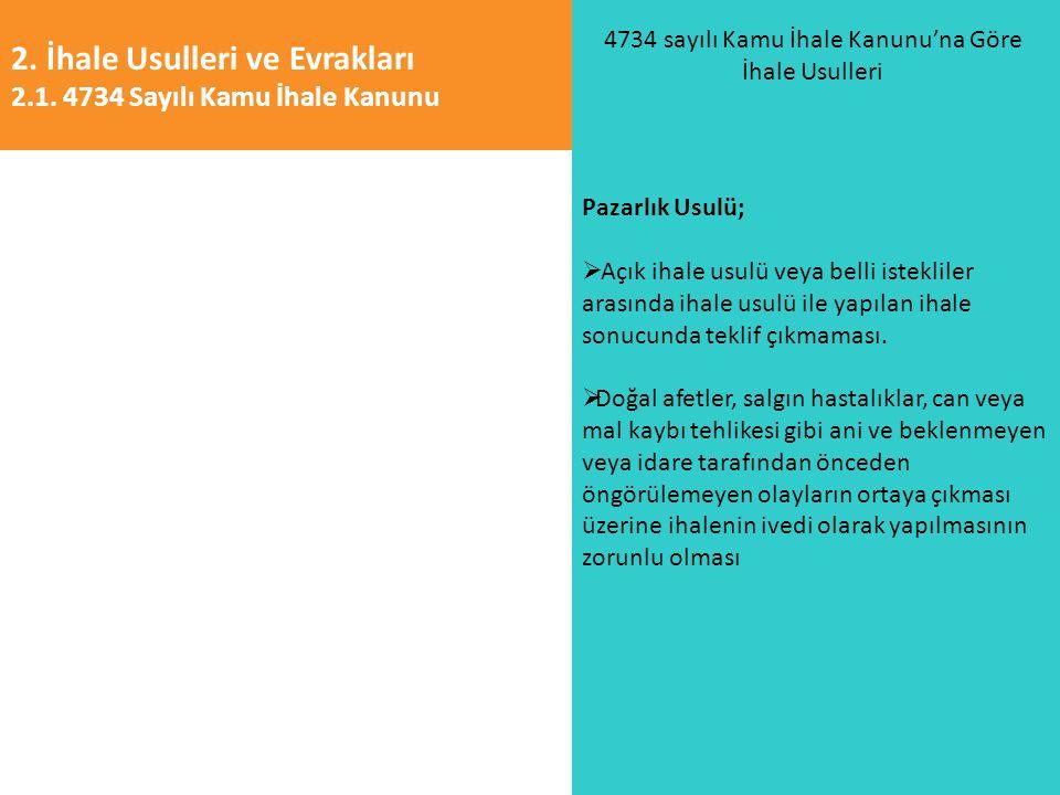 4734 sayılı Kamu İhale Kanunu'na Göre İhale Usulleri