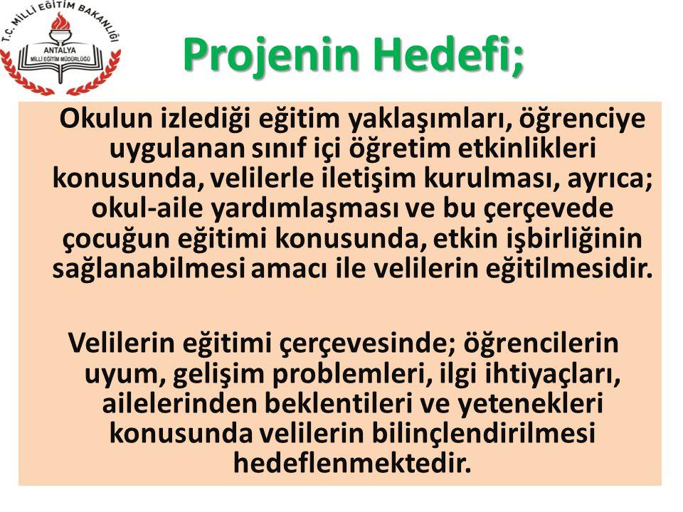 Projenin Hedefi;