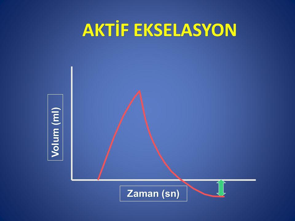 AKTİF EKSELASYON Volum (ml) Zaman (sn)