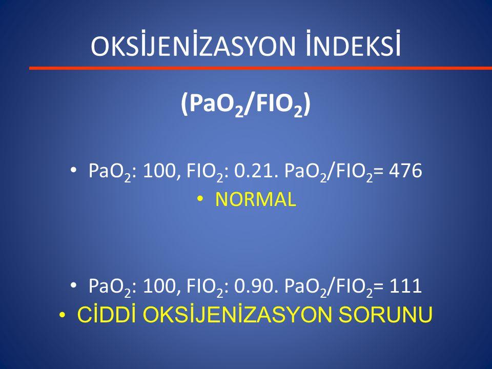 OKSİJENİZASYON İNDEKSİ