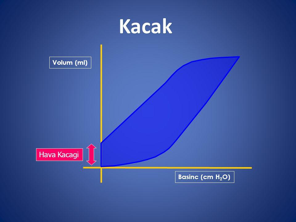 Kacak Volum (ml) Hava Kacagi Basinc (cm H2O)