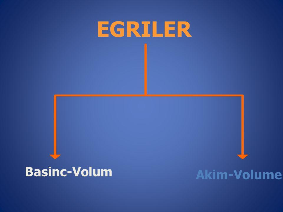 EGRILER Basinc-Volum Akim-Volume