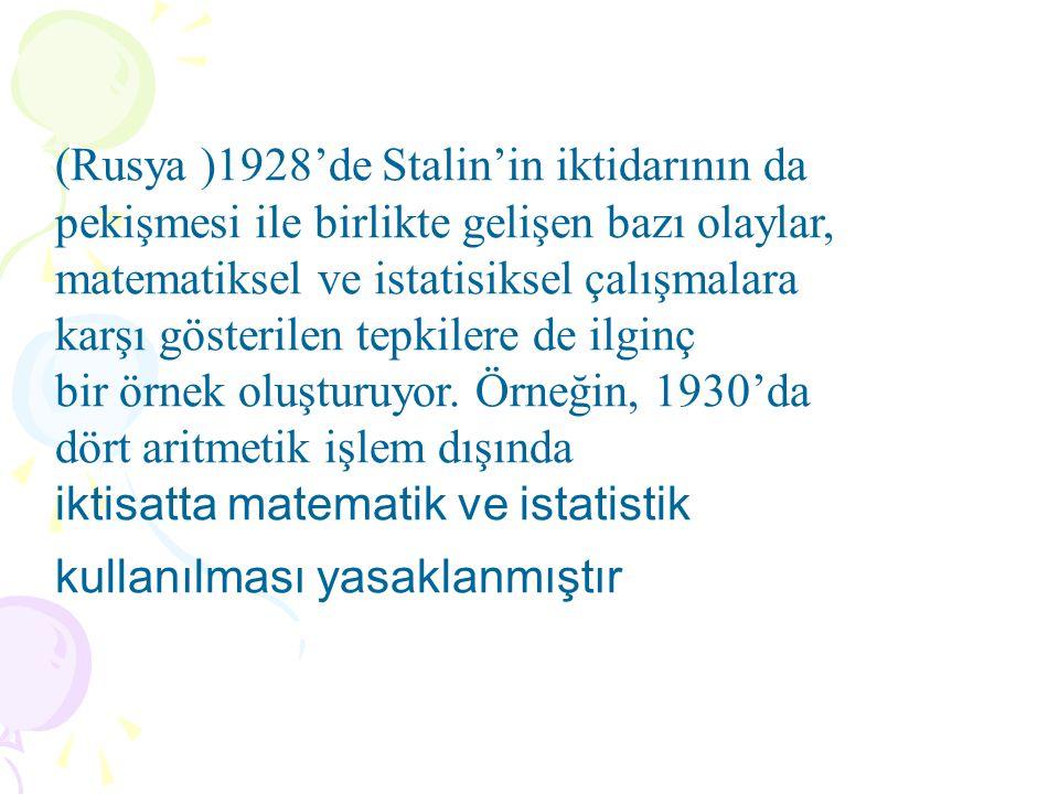 (Rusya )1928'de Stalin'in iktidarının da pekişmesi ile birlikte gelişen bazı olaylar,