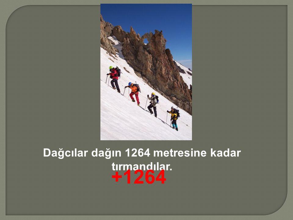 Dağcılar dağın 1264 metresine kadar tırmandılar.