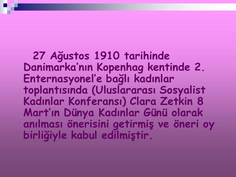 27 Ağustos 1910 tarihinde Danimarka'nın Kopenhag kentinde 2