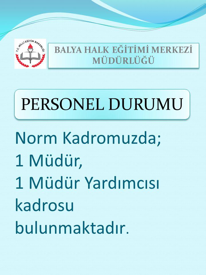 Norm Kadromuzda; 1 Müdür, 1 Müdür Yardımcısı kadrosu bulunmaktadır.