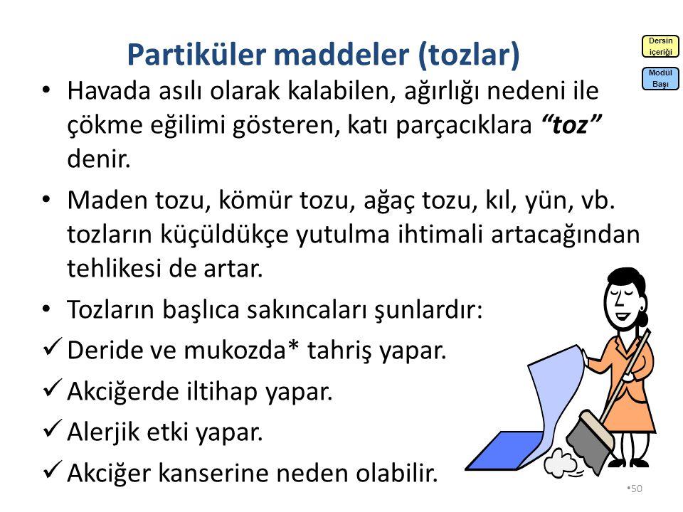 Partiküler maddeler (tozlar)