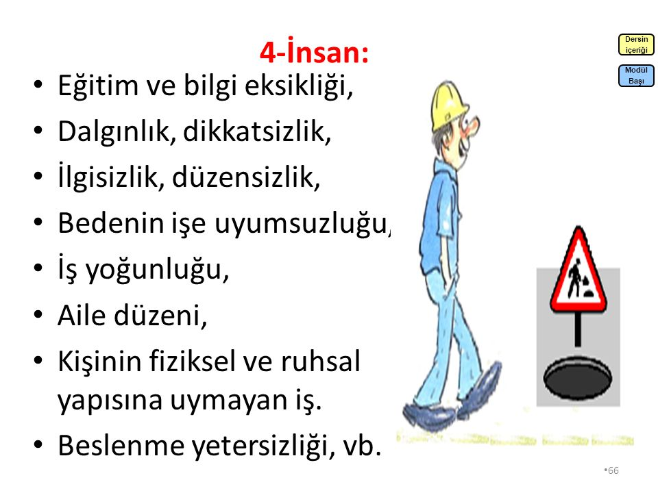 4-İnsan: Eğitim ve bilgi eksikliği, Dalgınlık, dikkatsizlik,