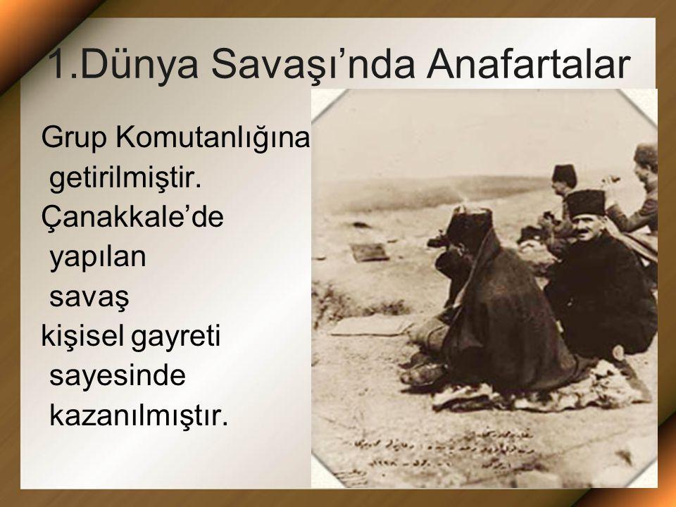 1.Dünya Savaşı'nda Anafartalar