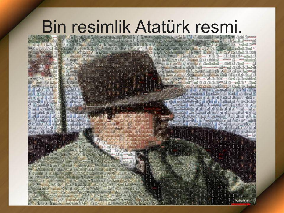 Bin resimlik Atatürk resmi.