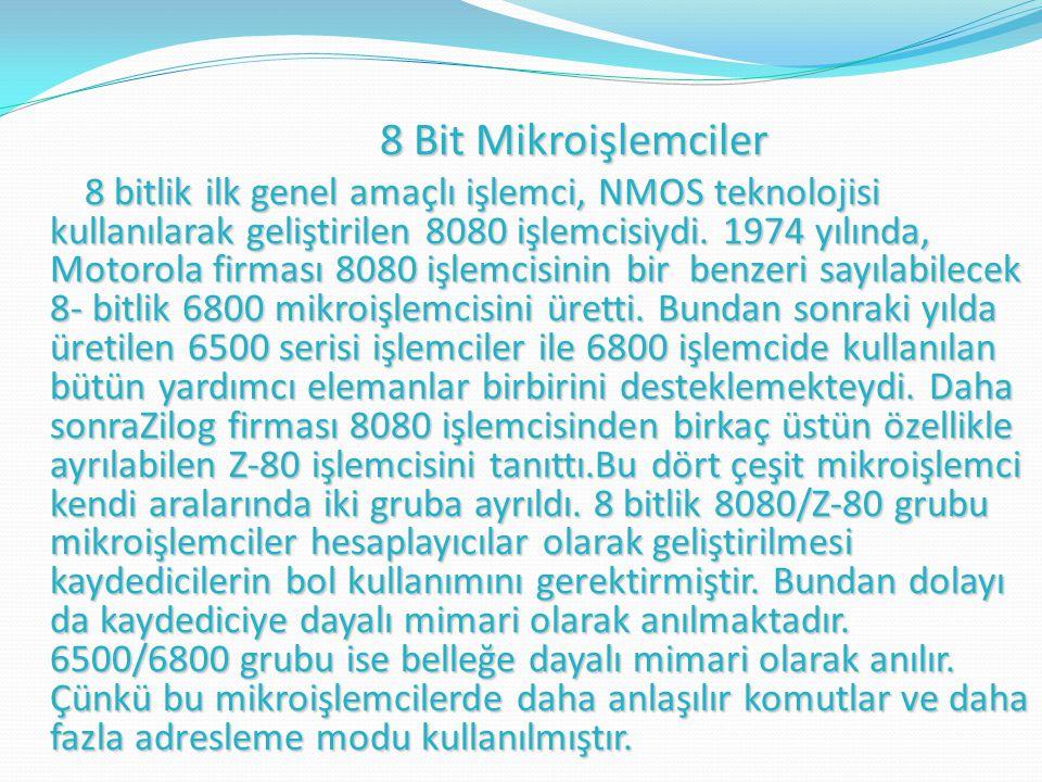 8 Bit Mikroişlemciler