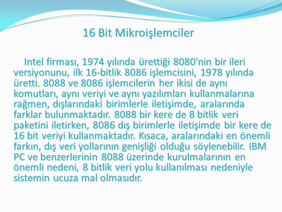 16 Bit Mikroişlemciler