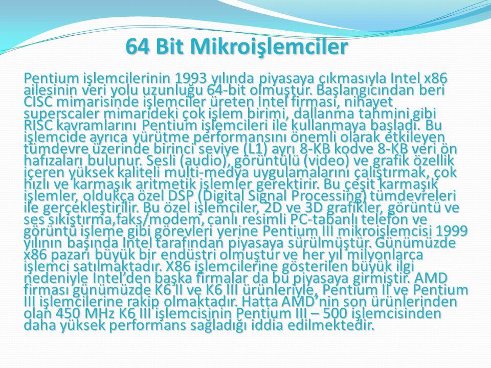 64 Bit Mikroişlemciler
