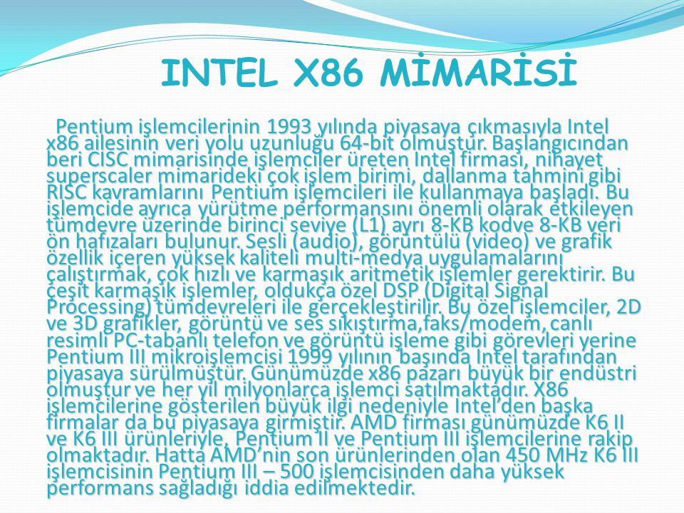 INTEL X86 MİMARİSİ