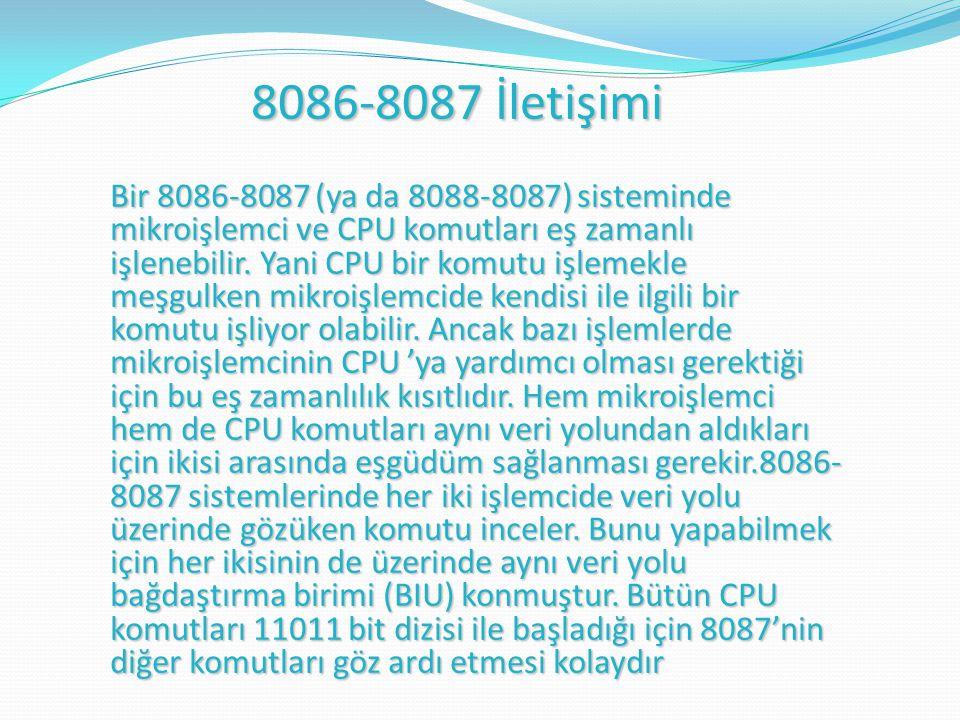 8086-8087 İletişimi