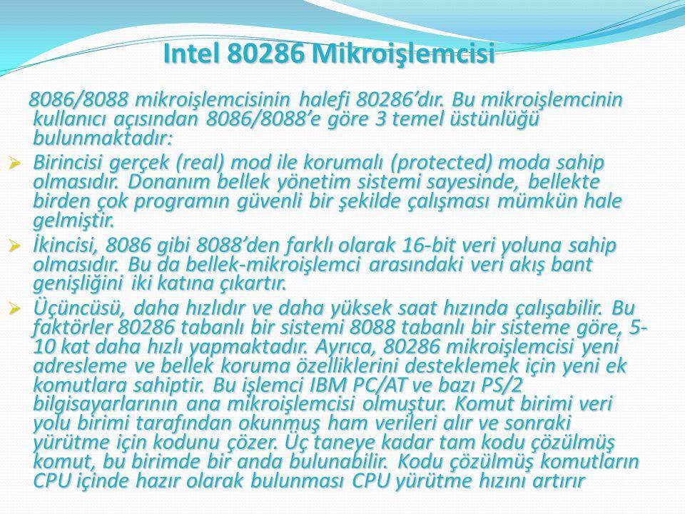 Intel 80286 Mikroişlemcisi