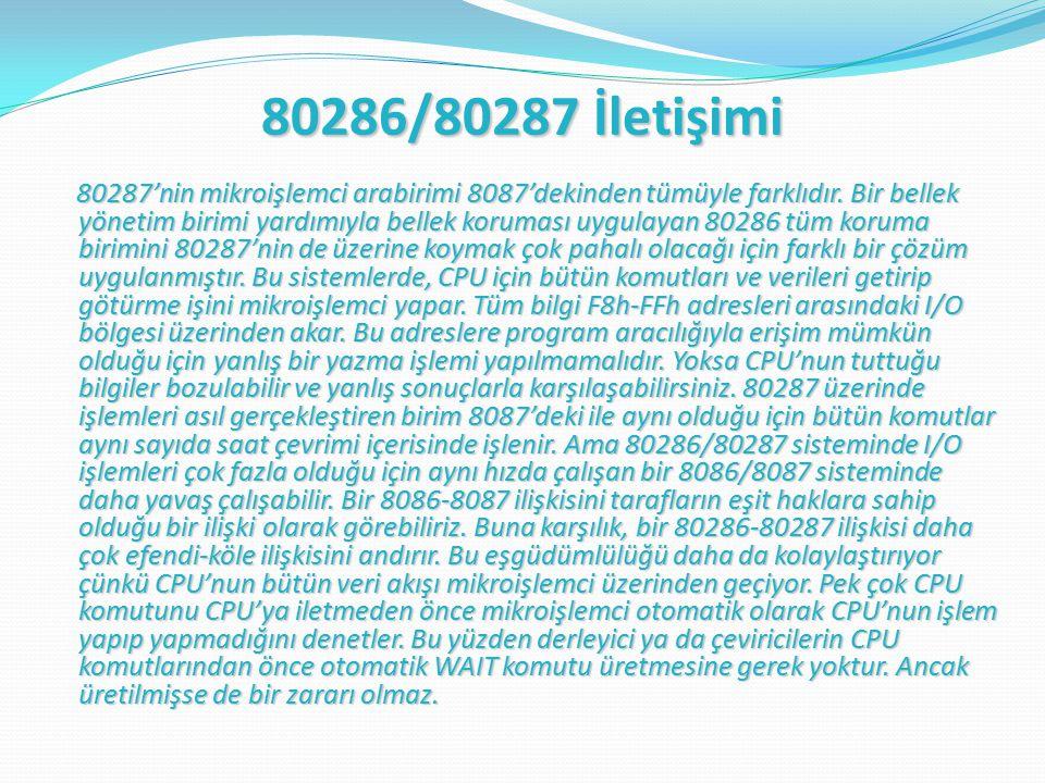 80286/80287 İletişimi