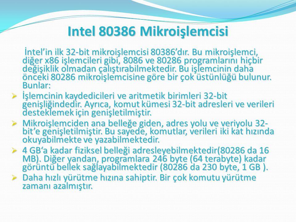 Intel 80386 Mikroişlemcisi