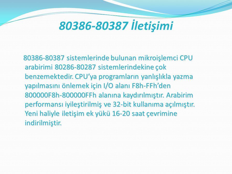 80386-80387 İletişimi