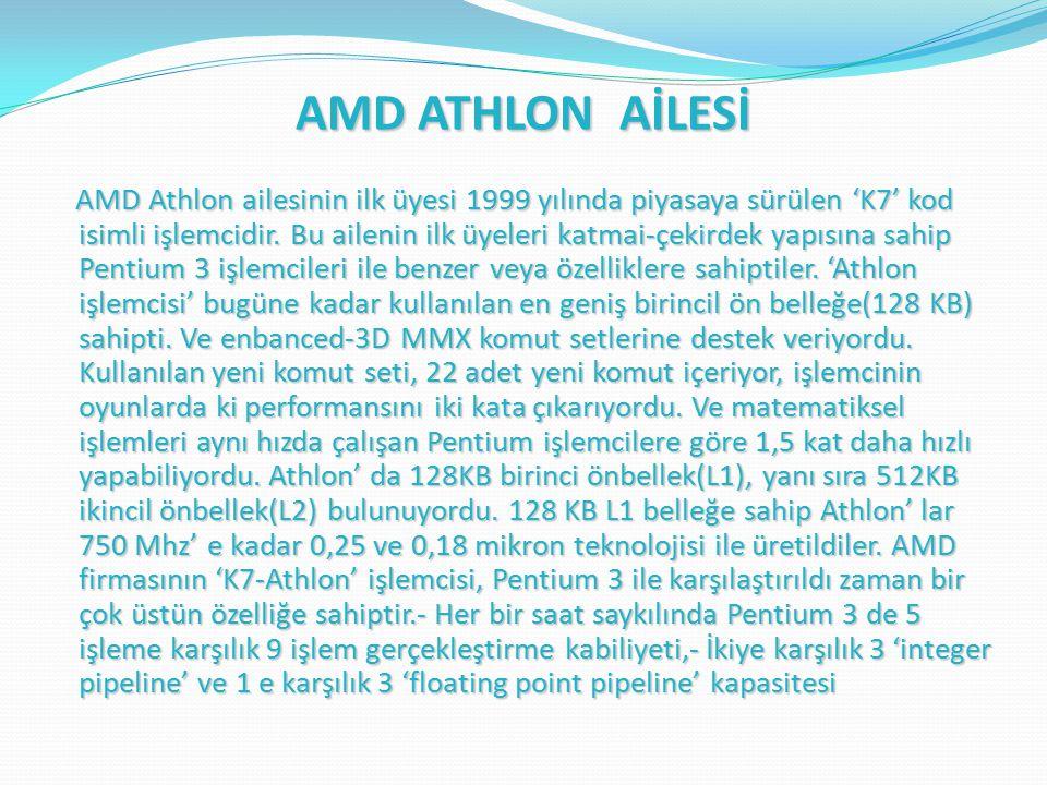 AMD ATHLON AİLESİ