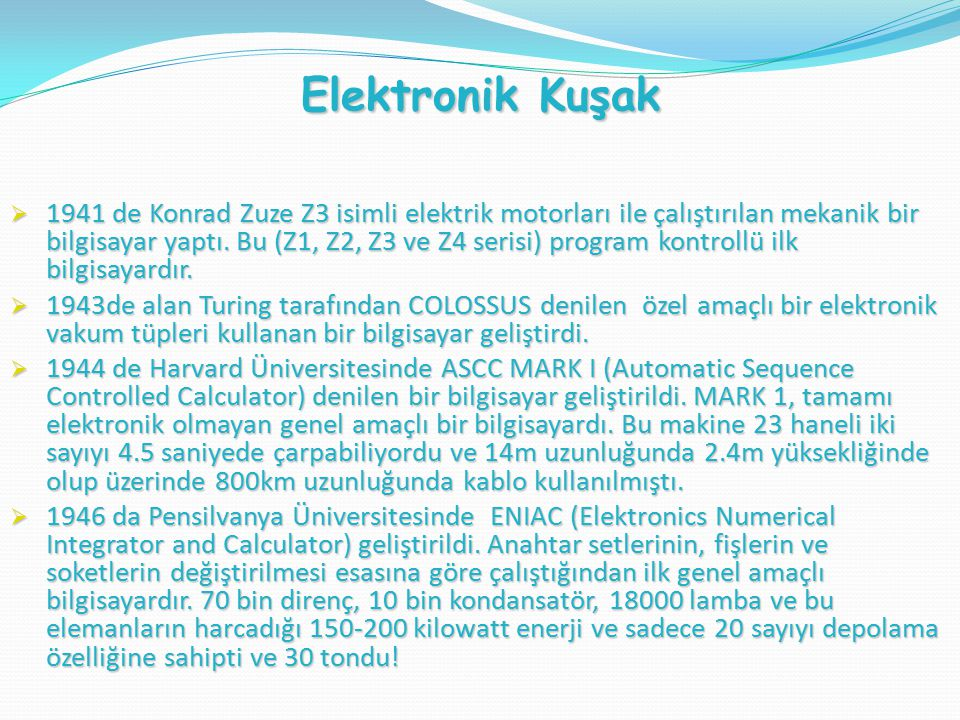 Elektronik Kuşak