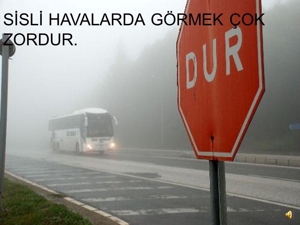 SİSLİ HAVALARDA GÖRMEK ÇOK ZORDUR.
