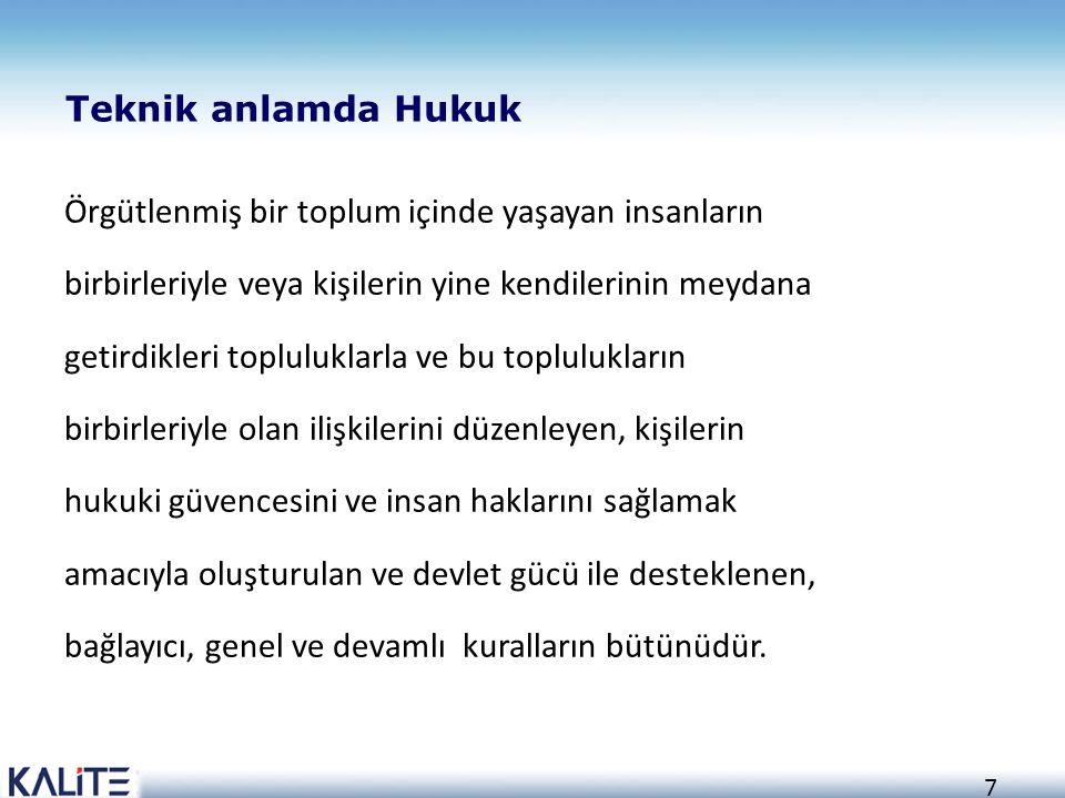Teknik anlamda Hukuk