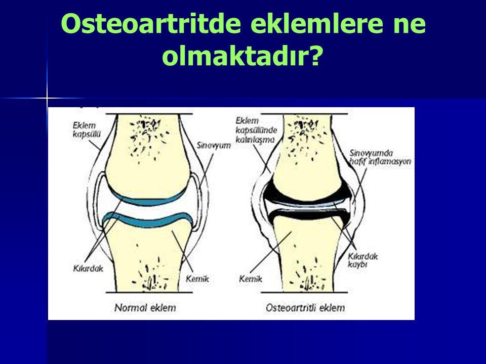 Osteoartritde eklemlere ne olmaktadır