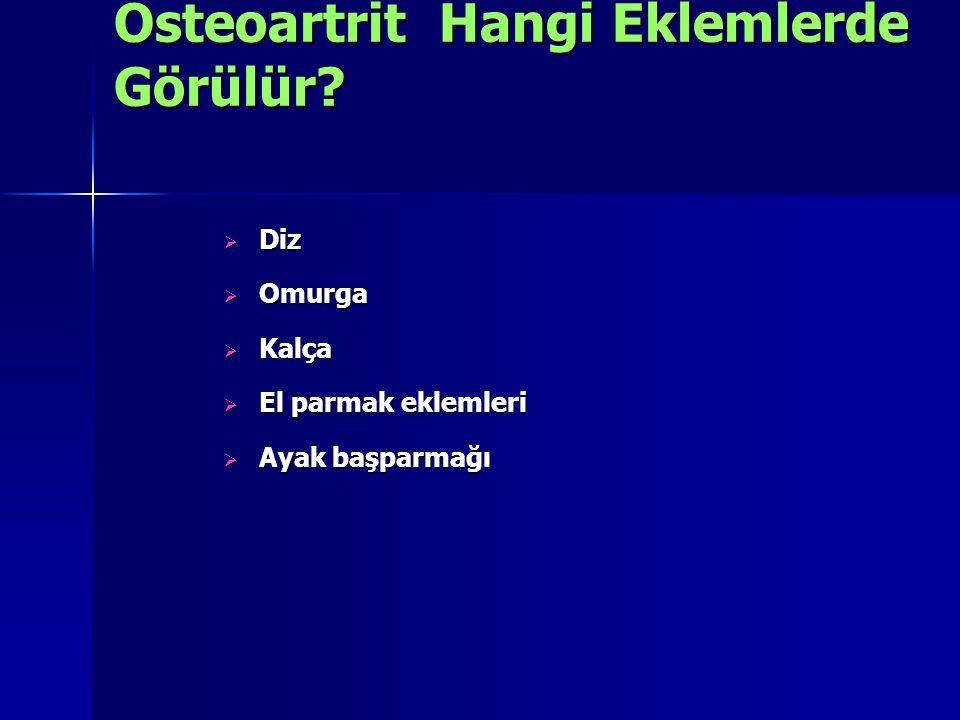 Osteoartrit Hangi Eklemlerde Görülür