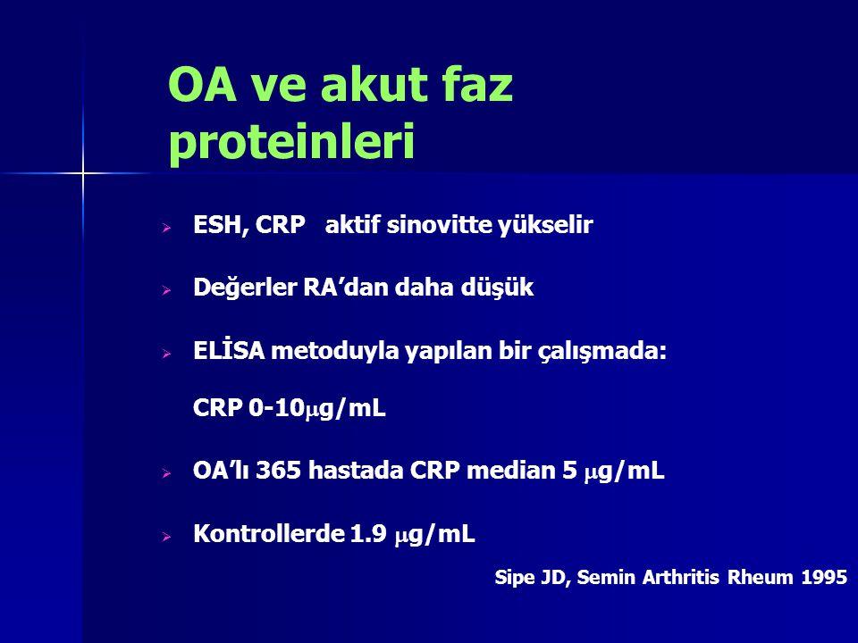 OA ve akut faz proteinleri