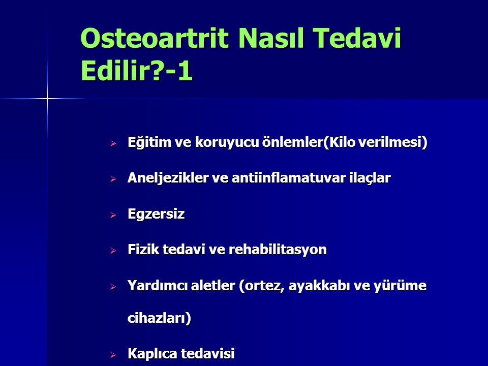 Osteoartrit Nasıl Tedavi Edilir -1