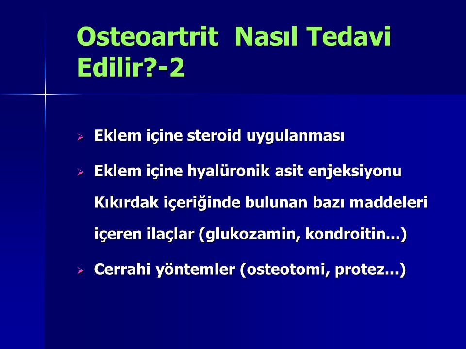 Osteoartrit Nasıl Tedavi Edilir -2