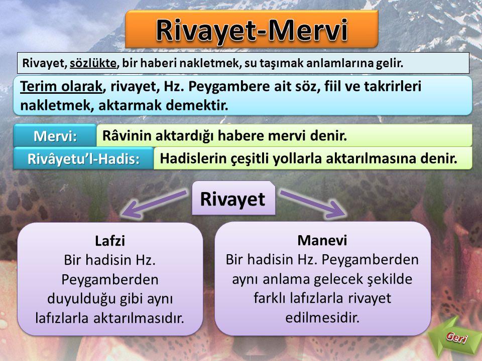 Rivayet-Mervi Rivayet