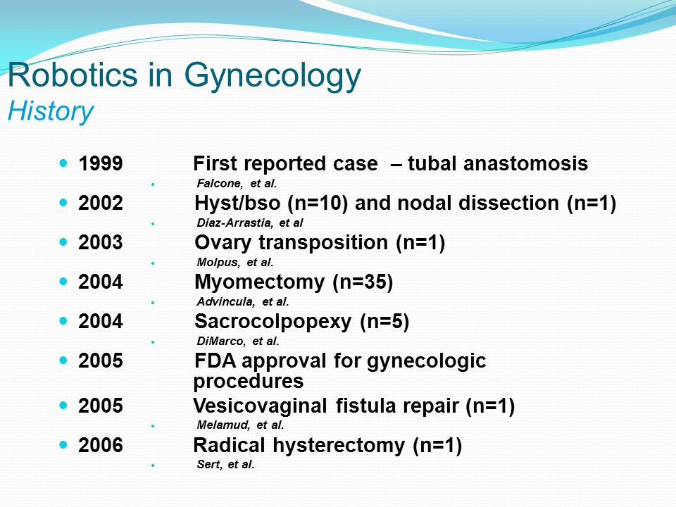 Robotics in Gynecology History