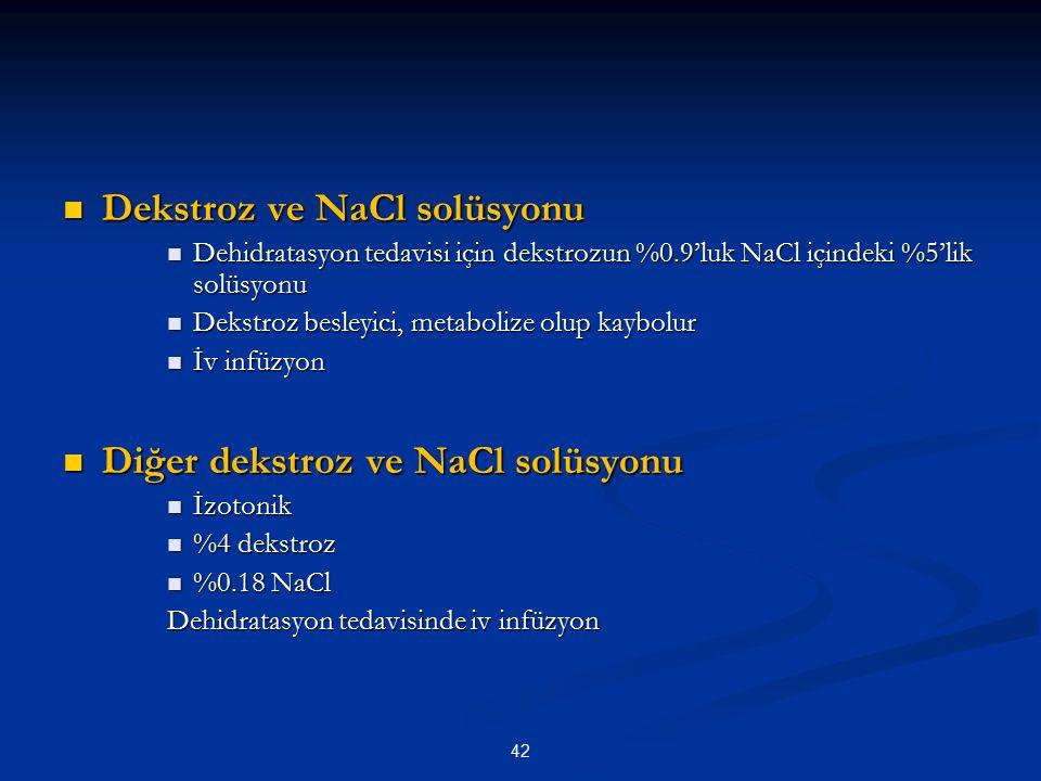 Dekstroz ve NaCl solüsyonu