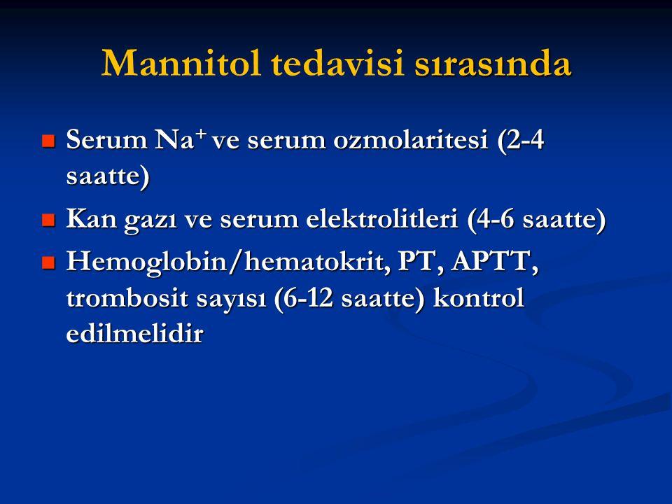 Mannitol tedavisi sırasında