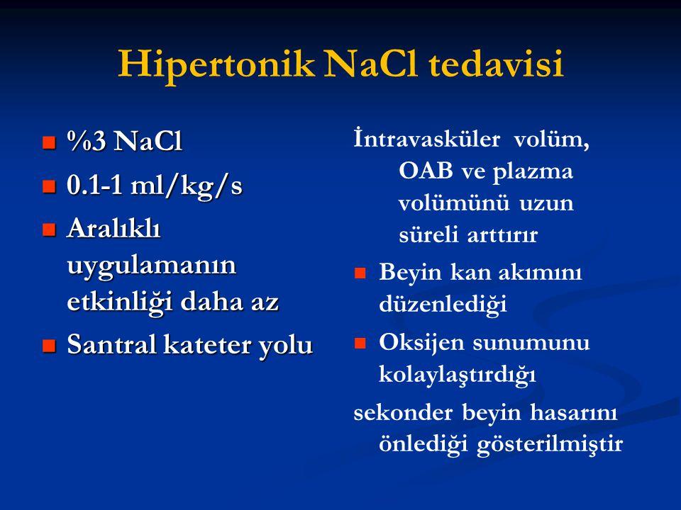 Hipertonik NaCl tedavisi