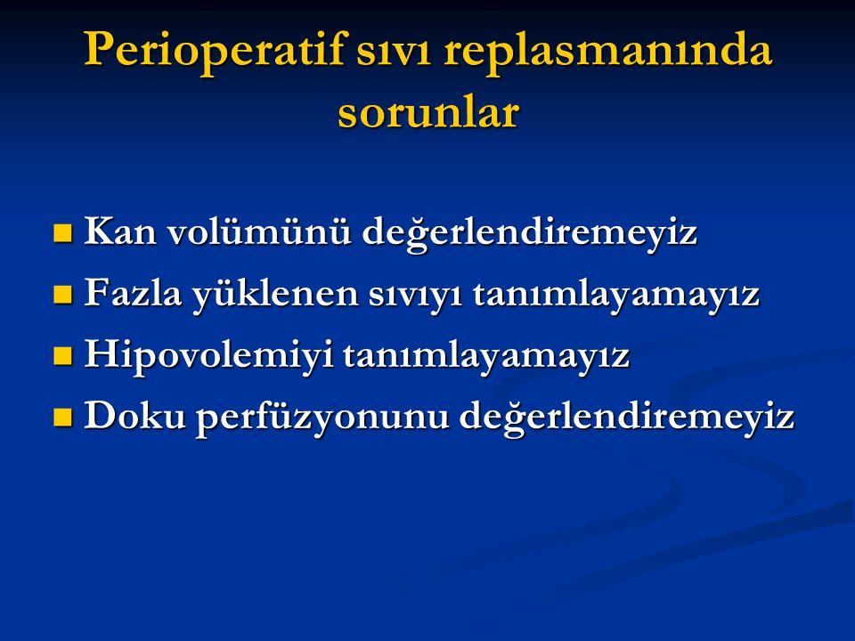 Perioperatif sıvı replasmanında sorunlar