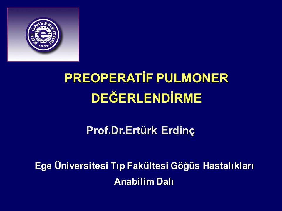 Ege Üniversitesi Tıp Fakültesi Göğüs Hastalıkları Anabilim Dalı