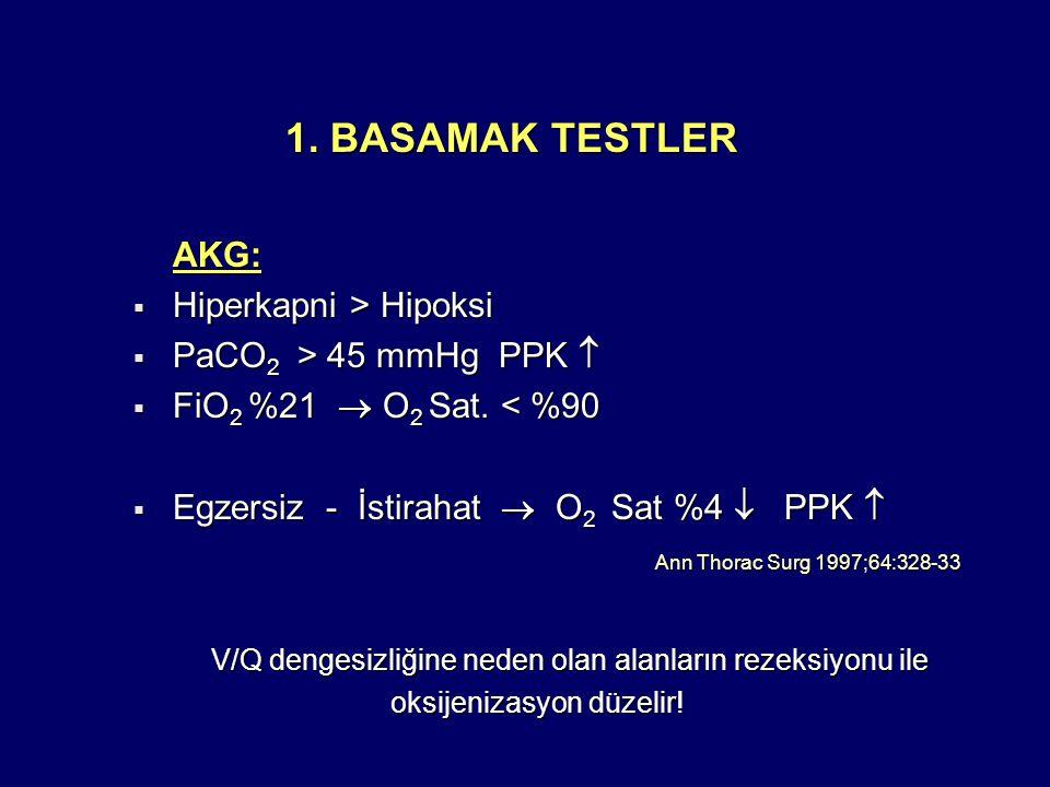 1. BASAMAK TESTLER AKG: Hiperkapni > Hipoksi