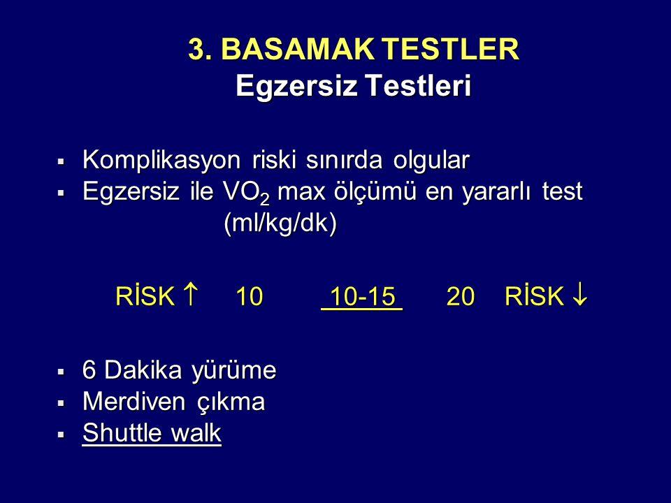 3. BASAMAK TESTLER Egzersiz Testleri