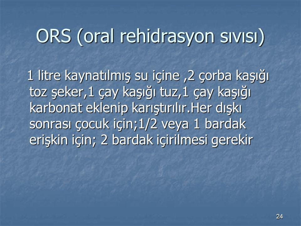 ORS (oral rehidrasyon sıvısı)