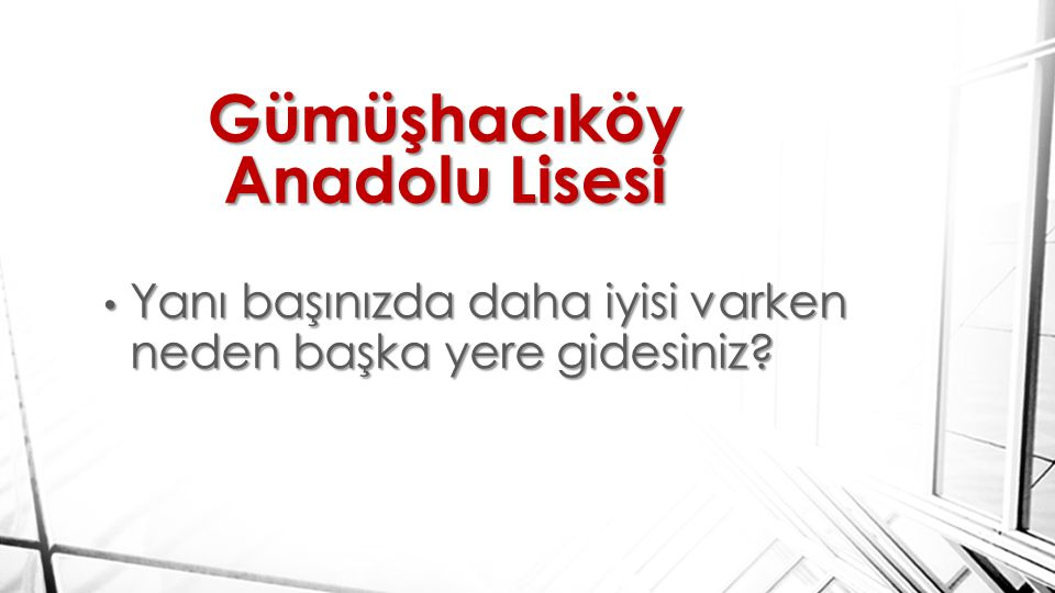 Gümüşhacıköy Anadolu Lisesi